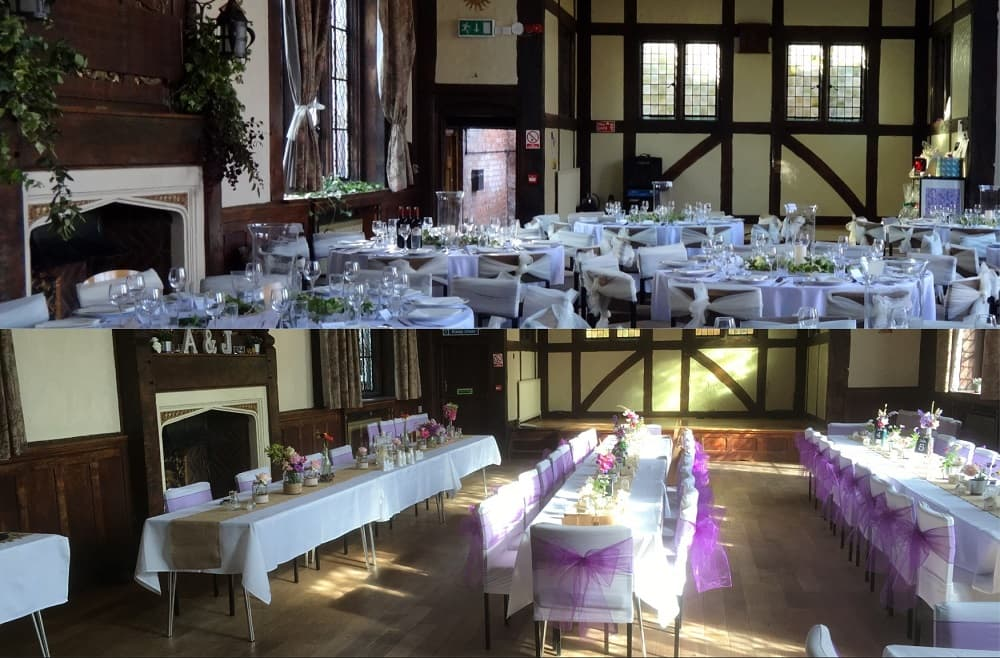 Morris Hall Shrewsbury events venue examples of table layouts